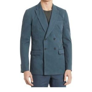 Calvin Klein Double-Breasted Twill Blazer